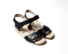 The Granny chic sandals that started it all. Ultra comfortable sandal in soft leather. Spring Sandals, Granny Chic, Comfortable Sandals, Soft Leather, Birkenstock, How To Wear, Shoes, Black, Style