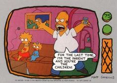 1990 Topps The Simpsons #75 For the last time, I'm the parent and you're Front