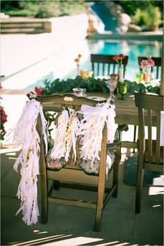 bridal chair. who doesn't love to feel special?