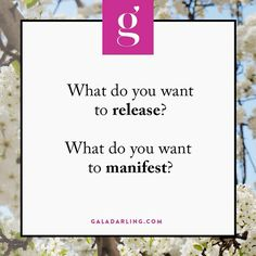 New Year, new you - what do you want to release? What do you want to manifest?