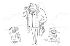 Despicable Me and Minions free printable coloring pages.