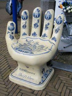 Delft Hand Chair - #Delft #Blue #design