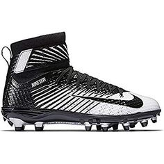 brand new 9aad2 4f440 NIKE Men s Lunarbeast Elite Football Cleat Black White Metallic  Silver Black Size 8