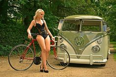 I just wanted a place for all the pictures of girls and VWs I've acquired. Volkswagen Minibus, Vw T1, Combi Ww, T6 California, Kdf Wagen, Hot Vw, Bus Girl, Vw Vintage, Cycling Girls