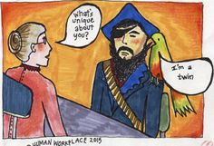 pirate and parrot whats unique about you i'm a twin for linkedin story snarky answers to stupid interview questions april 2015