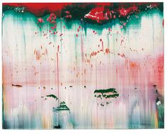 "Gerhard Richter Fuji 839-16 Oil on Alucobond ; 1996 ; 29 x 37 cm ; 11 1/2 x 14 1/2 "" verso signed and ""839-16"" numbered"