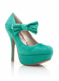 lace bow suede platform  - Heels | GoJane.com