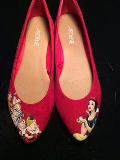 Hey, I found this really awesome Etsy listing at https://www.etsy.com/listing/262153056/snow-white-inspired-flats