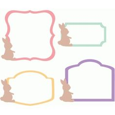 Silhouette Design Store: easter bunny labels