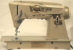 Singer's Slant-O-Matic Model 401 ZigZag Sewing Machine.