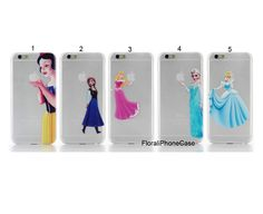 iphone 6 case,iphone 6 plus case,personalized apple i Transparent Clear phone covers,Frozen iphone case,Cartoon Cute Snow White Cinderella by Floraliphonecase on Etsy
