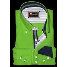 Camicia Uomo 2 Bottoni BDW Slim* Verde Chiaro