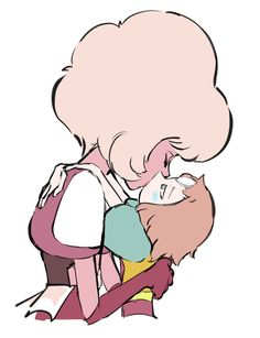 Pink Diamond x Pearl Steven Universe Theories, Steven Universe Ships, Steven Universe Comic, Universe Art, Perla Steven Universe, Guardians Of The Universe, Pearl Steven, Cute Art, Peace And Love