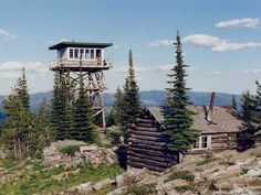 Garver Mountain, Kootenai NF, in Montana, in 1991. The lookout has been restored and is now a recreation cabin rental.
