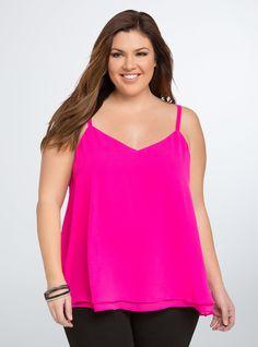 e3155e7a73e Double Layered Chiffon Cami. Plus Size Dressy TopsBusiness Casual AttirePlus  Size ShirtsRocker ChicCurvy FashionPlus Size FashionTorridShirt ...