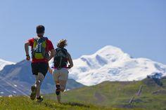 © photo : Tristan Shu - Trail face au Mont Blanc :)