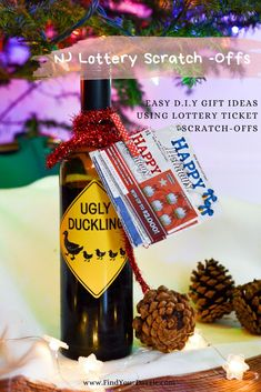 Feeling stressed out because of the holidays? Check out three easy DIY with New Jersey Lottery Ticket Scratch Offs!  #lotteryticket #scratchoffgift #giftideas Lottery Ticket Gift, Gift Guide For Him, Easy Diy Gifts, Feeling Stressed, New Jersey, Birthdays, Finding Yourself, Christmas Gifts, Gift Ideas