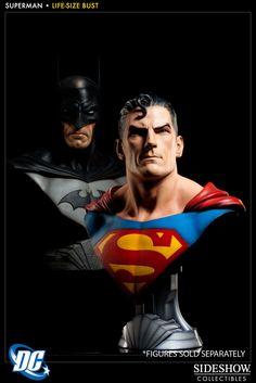 DC Comics Superman Life-Size Bust by Sideshow Collectibles Superman, Batman, Comic Art, Comic Books, Action Comics 1, Arte Dc Comics, Time Warner, Sideshow Collectibles, Graphic Design Projects