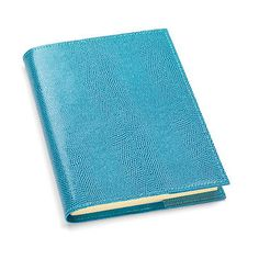 Large Refillable Journal in Turquoise Lizard - Aspinal of London