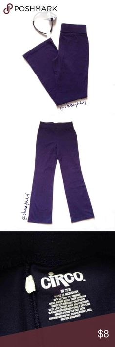 Circo | Girls School Uniform Pants Basic knit pants. Perfect for those who wear a school uniform! Comfortable wide elastic waist and bootcut bottom.   • Retail: $12.99 • Size: M 7/8 • Inseam: approx   Preloved; from a clean, pet/smoke free home. Circo Bottoms Casual