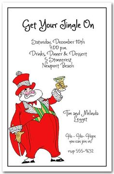 Best Top 8 Funny Christmas Party Invitations Retro christmas