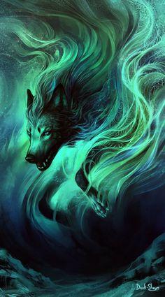 53 Ideas For Wolf Love Art Fantasy Beautiful Cute Fantasy Creatures, Mythical Creatures Art, Fantasy Wolf, Dark Fantasy Art, Anime Wolf Drawing, Anime Sketch, Shadow Wolf, Mystical Animals, Wolf Artwork