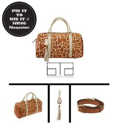 // Repin to win a customised luxury Madison Tote valued at $275 from The Bag Department.   // Find out more here :: http://gaynoralder.com/2013/06/27/win-design-your-own-luxury-handbag-from-the-bag-department/