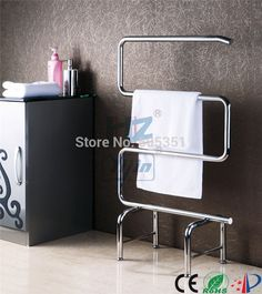 89.00$  Watch here - http://ali8do.worldwells.pw/go.php?t=624366965 - free standing  towel warmer electric heated towel rail stainless steel bathroom accessories heated towel racks HZ-903 89.00$