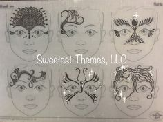Face painting practice board