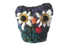 Cute Knitted Owl Desk Pet Pin Cushion Owl by LittleOwlsandPals