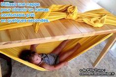 Pour une Sieste Improvisée. Il est quand même plus simple de transporter un drap ou une nappe qu'un landau ou qu'un berceau...