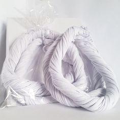 Branco - Colar de Malha | Cachecol de Malha Lindo Acessório da Moda que VOCÊ confere na ColaresDaMah.com