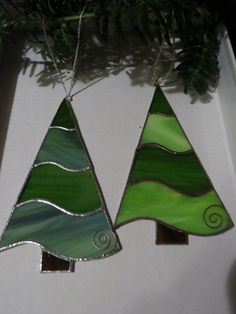 Items Similar To Stained Gl Christmas Ornament Tree On Etsy