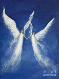 Angel Art Angels Art Print Angel Painting Decor Religious Angelic Heavenly…