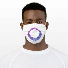 Cloth Face Mask OROBOROUS II blue-purple Ancient Symbols, Easy To Use, Time Travel, Sensitive Skin, First Love, Masks, Future, Purple, Face