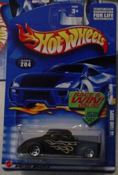 Hot Wheels '40 Ford Coupe 2002 #204 1:64 Scale by Mattel. $0.48. Rare High Number Card. 1:64