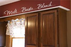 Kitchen Words Actions Wall Border Soffit Border by VisionsInVinyl, $40.00