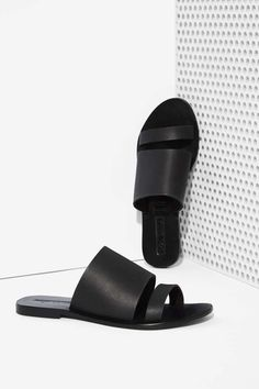 Sol Sana Betty Leather Slide Sandal | Shop Shoes at Nasty Gal!