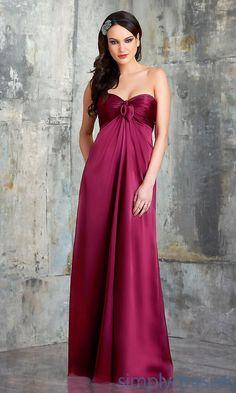 Shirred Bodice Bridesmaid Dress by Bari Jay - Brought to you by Avarsha.com