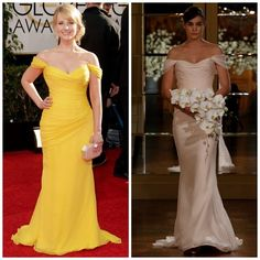 Designer Romona Keveza didn't have to look far to find inspiration for her latest collection of wedding dresses: Many of her newest wedding gowns were inspired by her own red carpet designs. Check 'em out: ANGELINA JOLIE GIULIANA RANCIC JENNIFER MORRISON (Taylor Swift, Nicole Kidman, and Nikki Reed have also worn this dress.) MELISSA RAUCH ANGELA KINSEY (Khloe Kardashian and Carrie Underwood have also worn this dress.) Which of the red carpet dresses do you like best? And which of the...