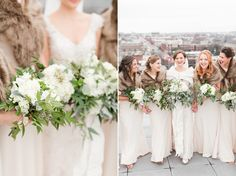 New Year's Eve Wedding at Richmond's Quirk Hotel with Neutral Colors and Fur Shawls photographed  by Katelyn James Photography