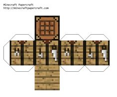 Minecraft Papercraft Crafting Table