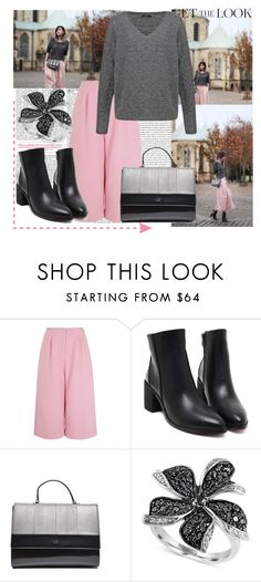 """""""Get The Look - Wide Pants"""" by grgecivs ❤ liked on Polyvore featuring Edit and Effy Jewelry"""