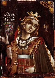 ELEANOR OF CASTILE, QUEEN OF ENGLAND by The Lost Gallery, via Flickr.  Eleanor of Castile, Queen consort of England. She was queen consort of King Edward I Longshanks Plantagenet. Ancestor