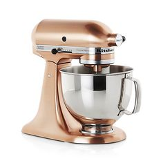 $599.99  KitchenAid ® Copper Metallic Series Stand Mixer | Crate and Barrel