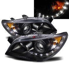 06-07 Subaru Impreza/WRX LED Strip Projector Headlights JDM Black ok so this is all want!