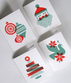 I really love these Christmas graphics and the overall simplicity of the cards.