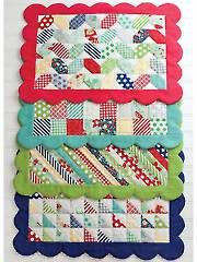 Sew - Scrappy Placemats Pattern - #429210 Good if you have a lot of scraps