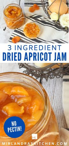 Dried Apricot Jam is rich, flavorful jam great for gifting or your own enjoyment. It is easy to whip up in minutes and you don't even need pectin so it is about the simplest kind of  jam you can make!  If you ever run out of jam you can always whip out some dried apricots that have been in your pantry too long and make the best jar of apricot jam you have ever had! #jam #homemadegift #fruit #easy #christmas Brunch Recipes, New Recipes, Easy Recipes, Breakfast Recipes, Dessert Recipes, Favorite Recipes, Amazing Recipes, Delicious Recipes, Christmas Recipes