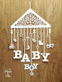 Baby Mobile 3 different designs van TommyandTillyDesign op Etsy